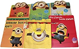 Despicable Me Minions (Kevin, Bob & Stuart) First Day of School or College Gift Bundle Set - Three (3) Notebooks, Two (2) Folders, Tote Bag & a Beginner Pencil with Sharpener
