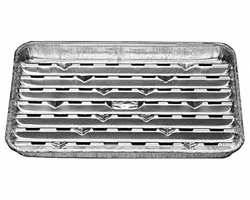 50 Stk. Alu-Grillpfanne Grillschalen BBQ, 34.4 x 22.4cm, mehrfach verwendbar / Diese Aluschale bewahrt den typischen Holzkohle-Grillgeschmack. Das Grillgut haftet nicht an der Schale und lässt sich gut wenden. Fett tropft nicht in die heiße Glut und verhi