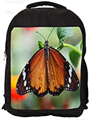 """Snoogg Wet Butterfly Casual Laptop Backpak Fits All 15 - 15.6"""" Inch Laptops"""