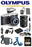 Olympus PEN E-PL8 Wi-Fi Micro 4/3 Digital Camera & 14-42mm II R Lens + 40-150mm (Black) w/ Olympus FL-LM1 Flash + Sony 32GB Deluxe Accessory Kit V205081BU000