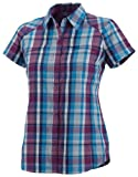 Columbia Women's Silver Ridge Multi Plaid Short Sleeve Shirt - Berry Jam, X-Small
