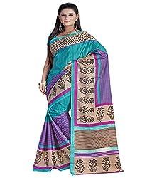 SB Creations Women's Turcky Silk Saree (SB_095_Multi)