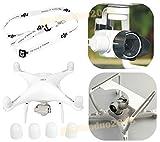 gouduoduo2018 DJI Phantom 4 Camera Gimbal Guard Protector + Camera Lens Sun Hood Cap + Motor guards + Neck strap