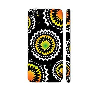 Colorpur Abstract Circles Or Mechanical Gears In Yellow Orange Artwork On Xiaomi Mi 5 Cover (Designer Mobile Back Case) | Artist: Urvashi