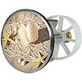 Sanitop-Wingenroth Clapet métallique pour lavabo à réduction excentrée 38 mm Motif coquillage