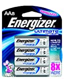 Energizer L91BP-8 Lithium AA Photo Battery (8-Pack)