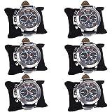 BCP Black Color 6-piece Velvet Bracelet Watch Pillow Jewelry Displays