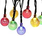 (チ-ンスン) Qingsun ソーラー 30LEDライト 防水型 電球色 2点滅モデル クリスマスパーティー ハロウィン ロープライト ライト充電式 省エネルギー  防水