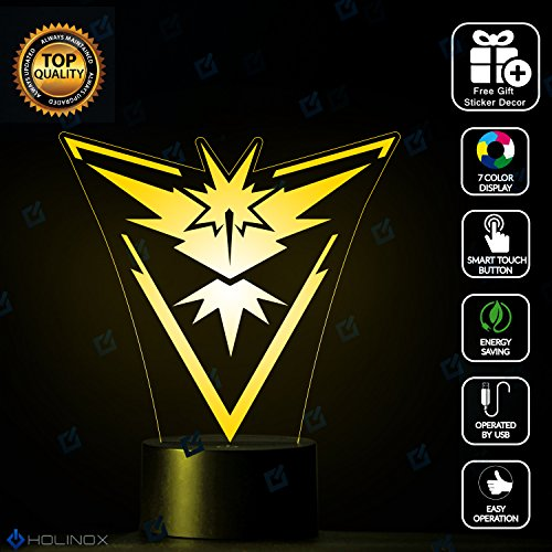 [Pokemon Go Team Symbols Lighting Decor Gadget Lamp Decor Awesome Gift By Holinox (MT-PKY)] (Best Halloween Costumes Ever 2016)