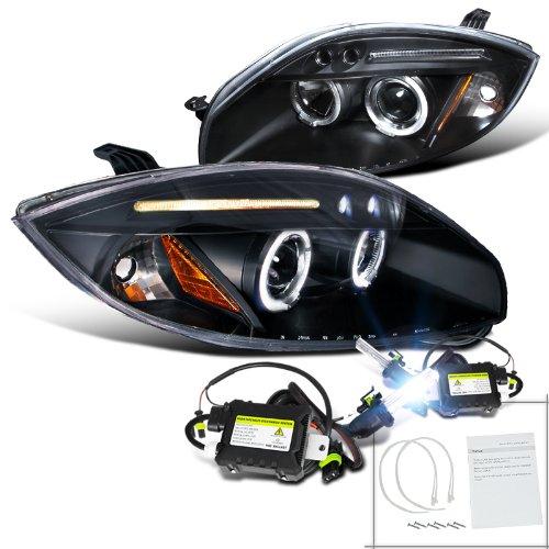 Mitsubishi Eclipse Black Halo Projector Headlights+H1 6000K Hid Conversion Kit