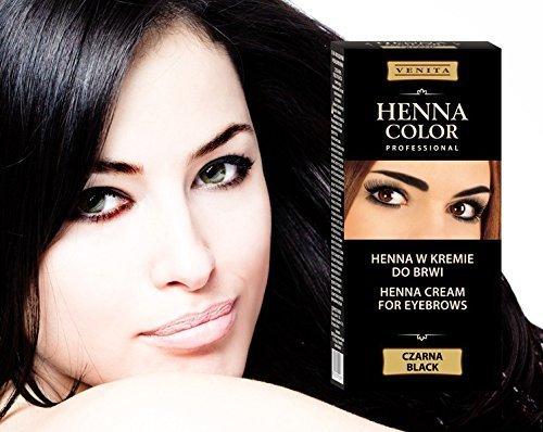 henna color noir crme pour sourcils et cils hennco 100 g hennco - Coloration Sourcils Noir