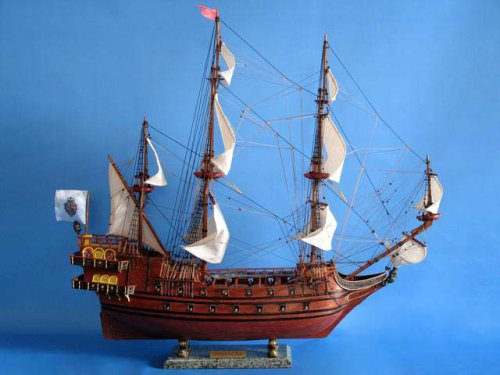 Buy Spanish Galleon 30″ Tall Ship Wood Model Fully Assembled Not a Kit