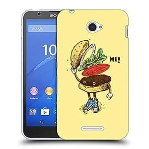 Snoogg Hi Sandwich Designer Protective Back Case Cover For SONY XPERIA E4