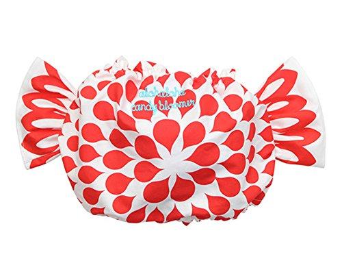 (アロハロハ)Alohaloha フラワーシロップ柄 キャンディーブルマ/レッド