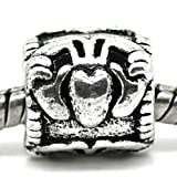 Charm Buddy Silver Tone Irish Claddagh Style Heart Crown Charm Pendant Bead Fits Pandora Troll Bracelets Necklaces