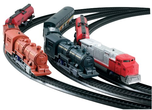 Scout Series 10 Piece Classic Train Set, Three Pack Railroading Playset