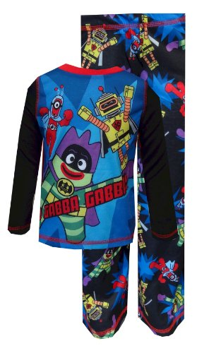 Yo Gabba Gabba Superhero Cast Pajama With Cape For Boys (2T) back-785314