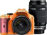 PENTAX デジタル一眼レフカメラ K-x ダブルズームキット オレンジ/ピンク 053