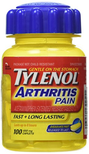 Tylenol Arthritis Pain Reliever 650 Mg 100 Pills Seniors