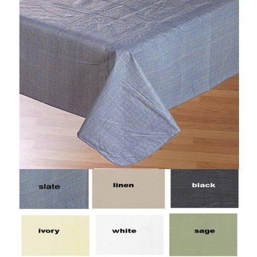 Sage 52 X 70 Oblong Solid Color Vinyl Flannel Back Tablecloth Sage Karl Akesson140005