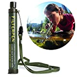 HeroNeo Outdoor Camping Hiking Backpacking Survival Straw-Portable Personal Emergency Water Purifier Filter Straw 99.9999 Purification