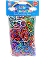 Loom Bandz - Rainbow Colours - Colourful Assortment 600 Count & 25 Clips
