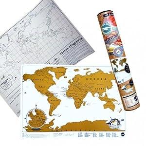 Globetrotter Hamburg Mini Rubbel Weltkarte Scratch Map Travel