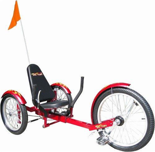 Triton Pro Tri-501R Ultimate Three-Wheeled Cruiser - Red