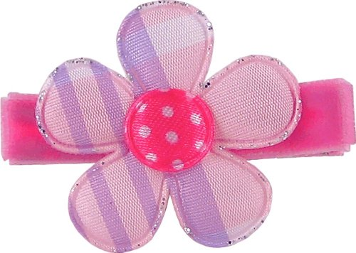 "Bow Allure ""Cotton Candy"" Argyle/Plaid Hair Clip for Girls"