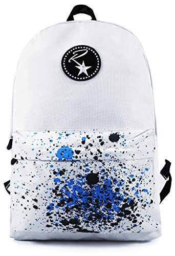 ruckstar-rucksack-with-reinforced-stitching-padded-laptop-compartment-and-paint-design-pocket-white