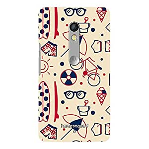 HomeSoGood Fun On Beach Brown 3D Mobile Case For Moto X Play (Back Cover)