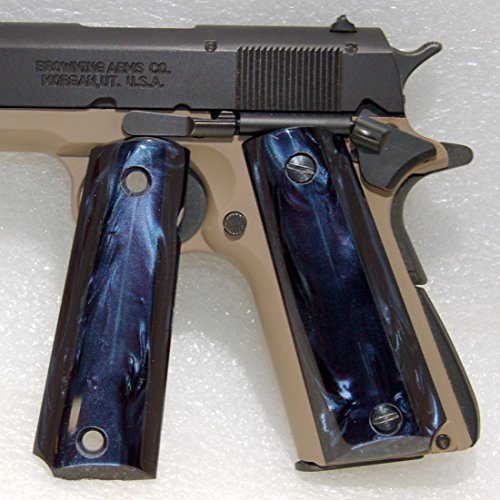 Browning Gun / Pistol Grips 1911 .22 or .380 , Kirinite, Deep Blue Pearl