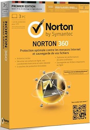 Norton 360 V7 - premier édition (3 postes, 1 an)