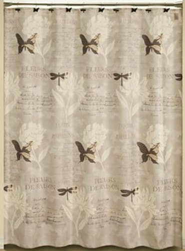 pretty dragonfly shower curtains. Jardin Garden Floral Dragonfly Butterfly Fabric Bathroom Shower Curtain Curtains Outlet