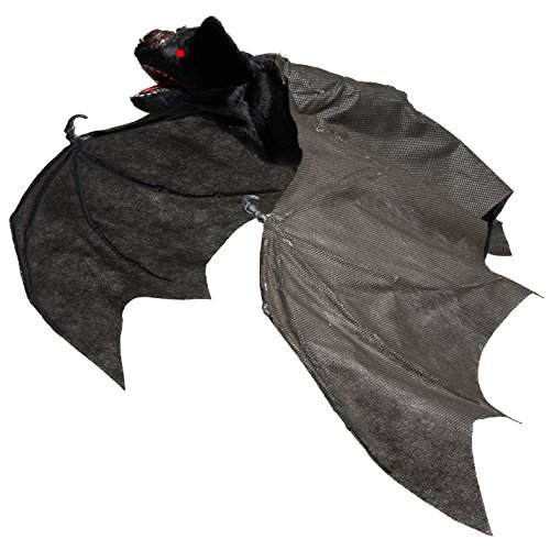 Animated halloween haunted house props ideas holiday for Animated flying bat decoration