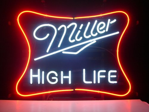 New Miller High Life Real Glass Neon Light Sign Beer Bar Pub Sign L08