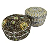 Handmade Jewelry Box Indian Gift Vintage Style Decorative Box Lac Beaded Material Home Decor Antique Pill Box...