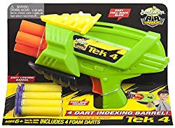 Buzzbee Tek 4 with 4 Foam Darts, Multi Color