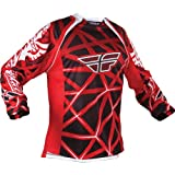 364-122YL - Fly Racing 2011 Youth Evolution Motocross Jersey L Red/Black