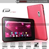 Prontotec 7 Inch Capacitive Touch Screen Tablet Pc, Cortex A8 Dual Core 1.2 Ghz, Android 4.2.2, 4GB, Ddr3 512MB Ram, Dual Camera, Wi-fi, G-sensor (Pink)
