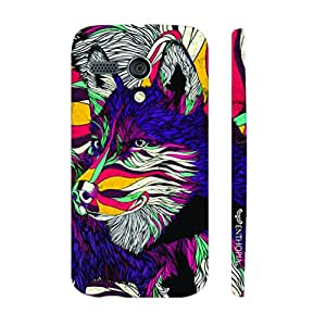 Motorola Moto G 1st Gen What does the fox say? designer mobile hard shell case by Enthopia