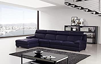 3pc Modern Contemporary Sectional Leather Sofa Set - AM-L707-DP
