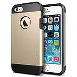 iPhone 5S Case, Spigen Tough Armor Case for iPhone 5/5S - Retail Packaging - Champagne Gold (SGP10584)