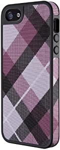 Speck Products FabShell Fabric-Covered Case for iPhone 5 & 5S - Retail Packaging - MegaPlaid Mulberry/Black
