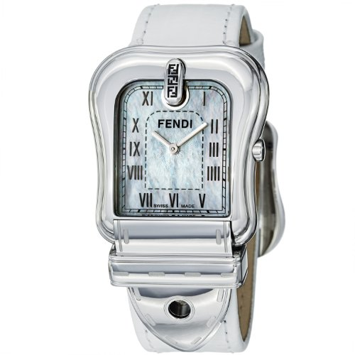 Fendi Women's F371144 B. Fendi White Textured Leather Strap Watch