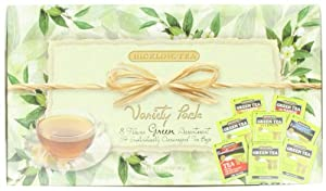 Bigelow Tea Variety Pack, 8 Flavor Green Tea Assortment, 64-Count Boxes (Pack of 2)