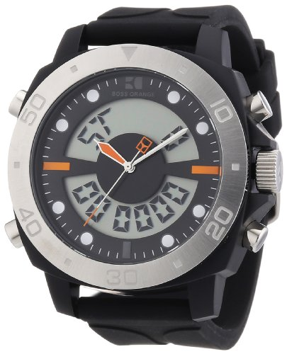 BOSS Orange Dual Movement Rubber Strap Watch