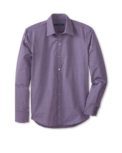 Zachary Prell Men's Garton Microcheck Long Sleeve Shirt