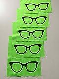5x Mikrofaser Brillenputztuch - Brille - grün - groß -...