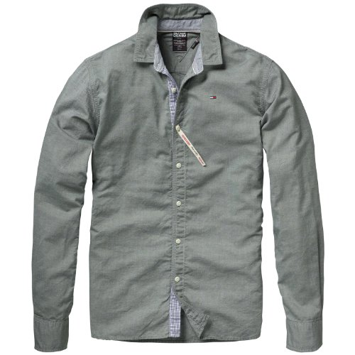 Hilfiger Denim Men's Georgetown Shirt L/S / 1957818612 Casual Shirt Green (218 Thyme) 46